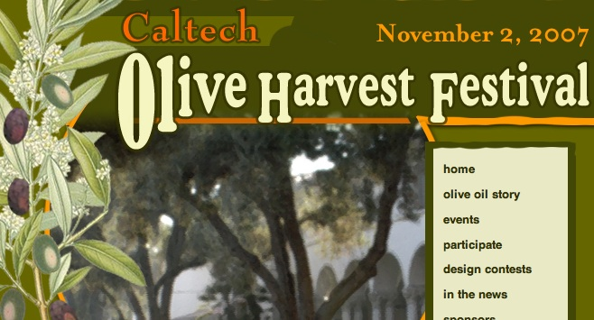 Caltech Olive Festival Poster